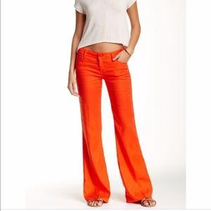Anthropologie Level 99 Linen Trouser Pant: Size 28